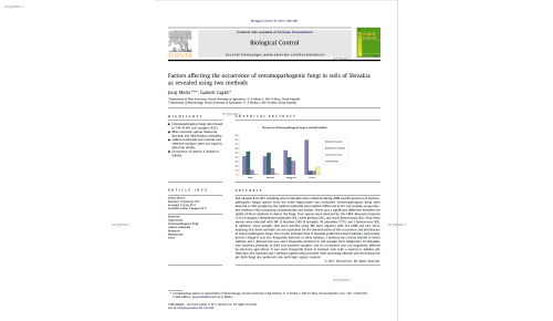 Factors affecting the occurrence of entomopathogenic fungi in soils of Slovakia as revealed using two methods