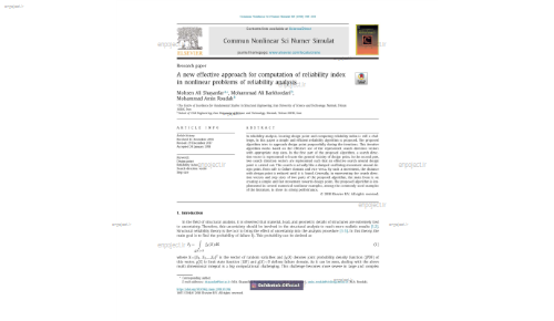 A new effective approach for computation of reliability indexin nonlinear problems of reliability analysis