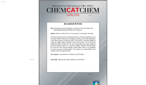 Development and Elucidation of Superior Turnover Rates and Selectivity of Supported Molecular Catalysts