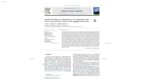 Numerical simulation of enhancement in CO2 sequestration with various water production schemes under multiple well scenarios