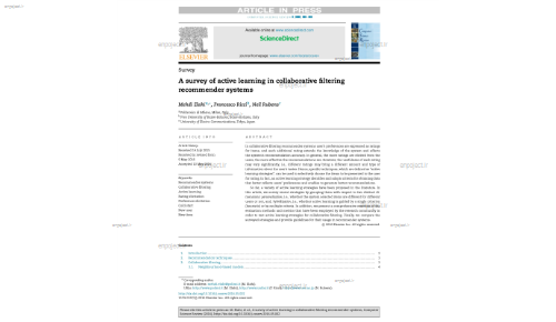 A survey of active learning in collaborative filtering recommender systems